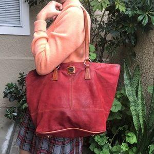 Super large burgundy Dooney & Bourke leather bag